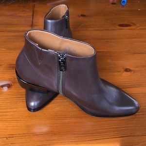 NWOT Brown Coach Ankle Bootie
